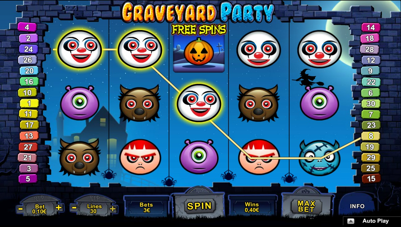 Graveyard Party slots at winnings.com
